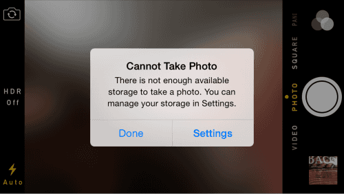 Not enough phone storage