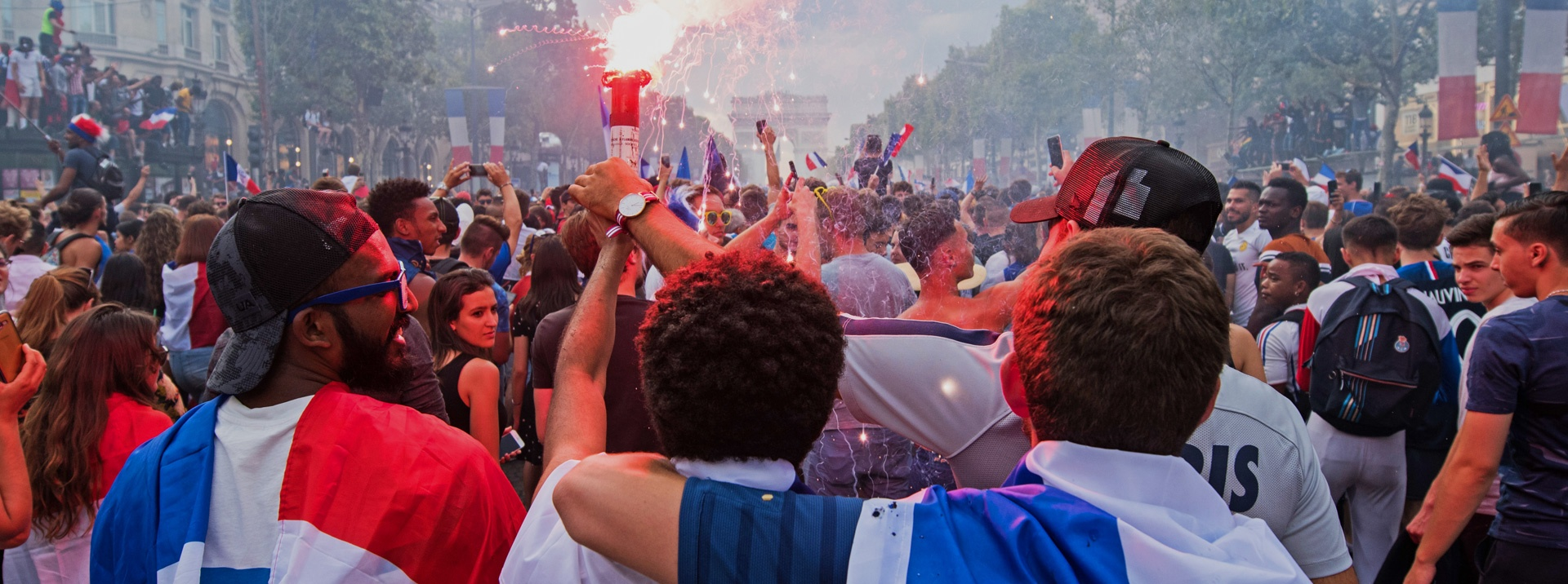 Paris interns celebrating the world cup