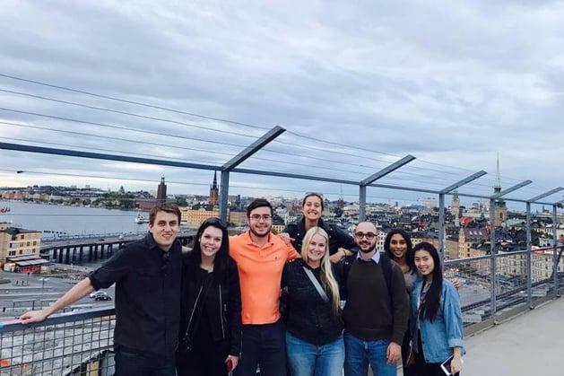 Stockholm Interns on Bridge
