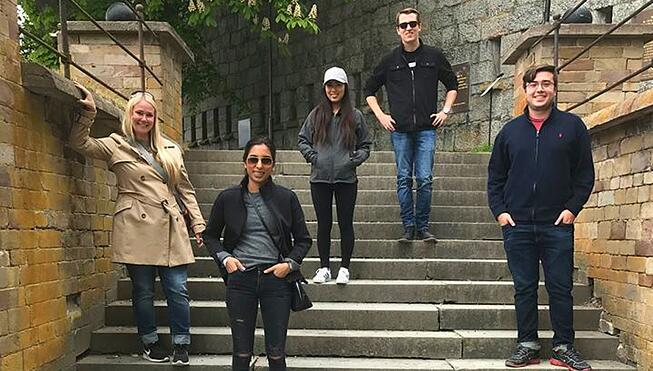 Stockholm Interns on Stairs