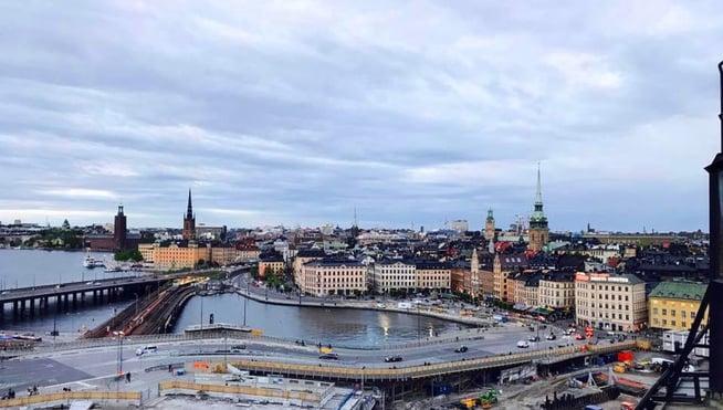 Stockholm View from Bridge