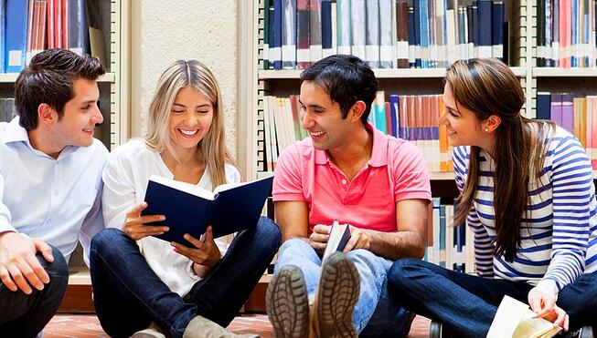 Students Studying Languages