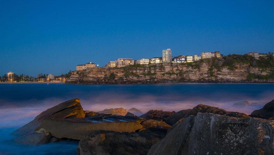 Dusk at Manyl Beach, Sydney