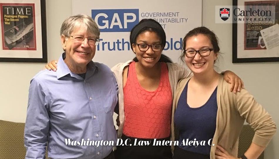 Washington DC Law Intern at her Internship