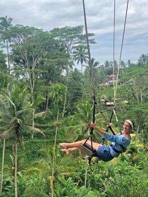 Woman Swinging in Bali