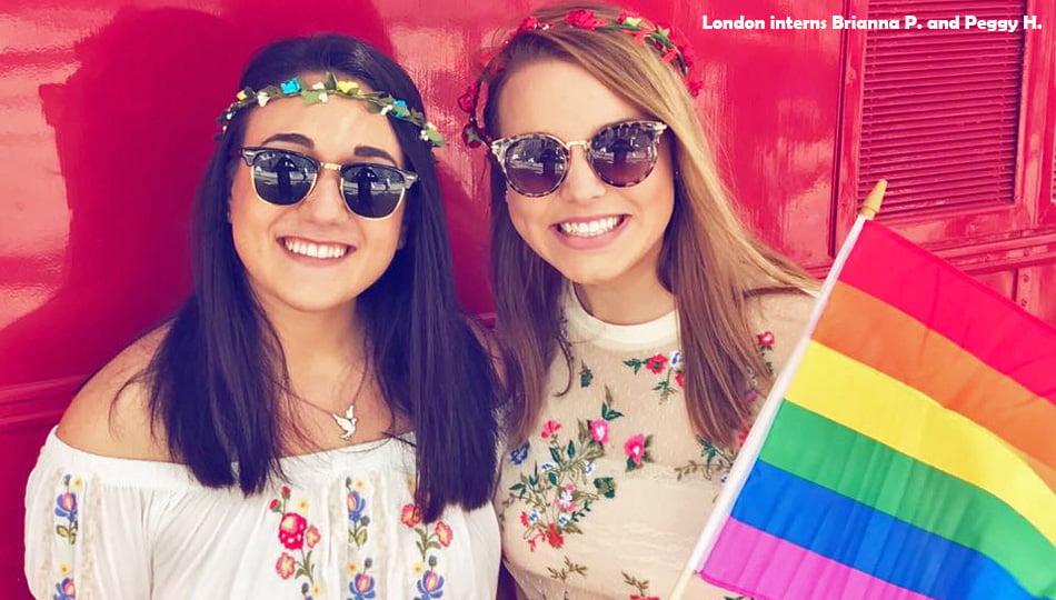 Woman celebrating LGBTQ Pride in London