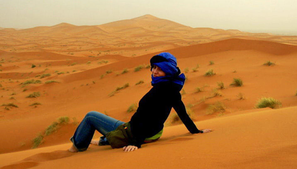 Woman in Merzouga Desert