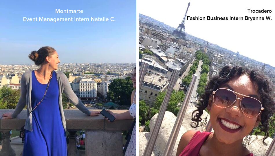 Women in Montmarte and Trocadero