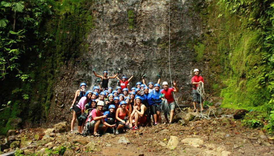 Ziplining group in Costa Rica