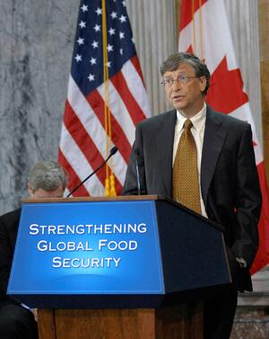 Bill Gates helping end world hunger