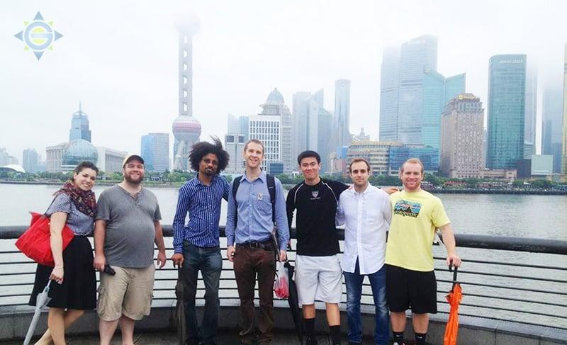 Interns exploring Shanghai