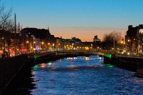 River Liffey in Ireland