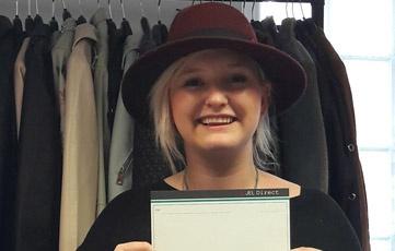 Kyra a fashion design intern in London