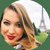 Paris Location Coordinator Mandie at the Eiffel Tower