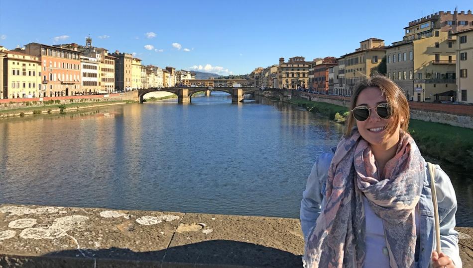 Nikkie at the Ponte Vecchio