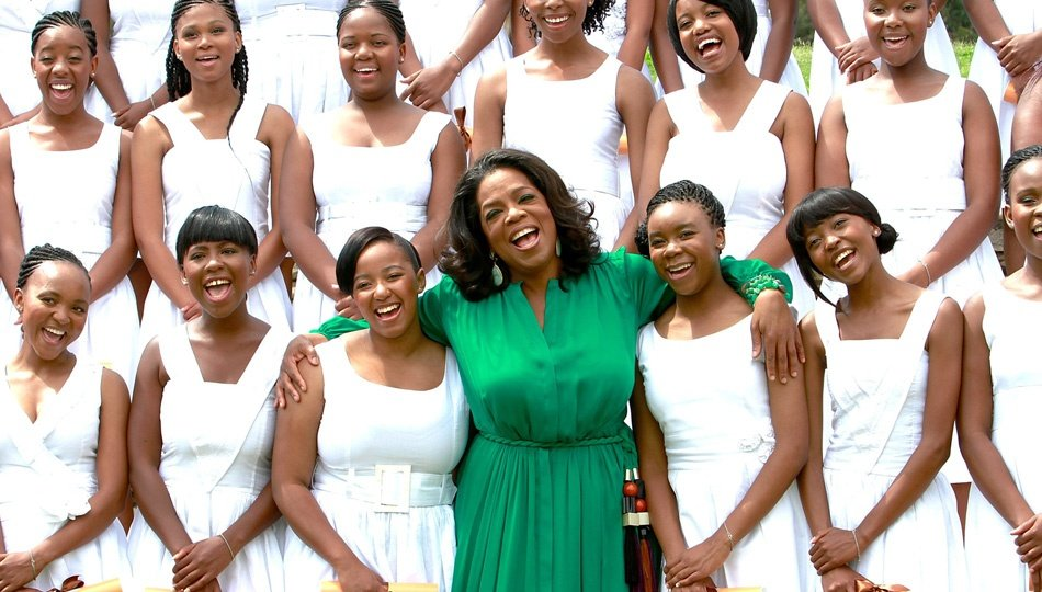 Oprah Winfrey with group of women