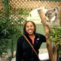 Alexis S. with a koala bear