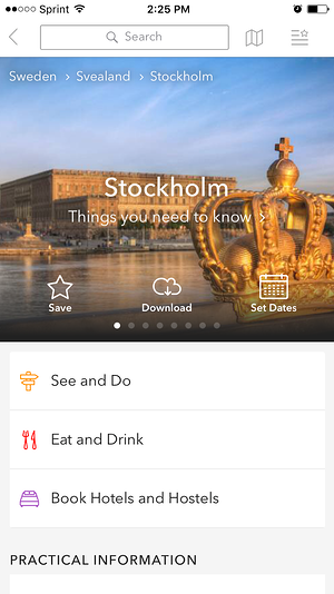 triposo stockholm screenshot
