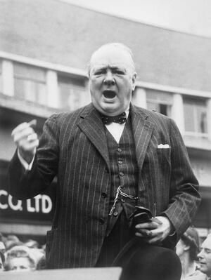 Winston Churchill enthusiastic during general election