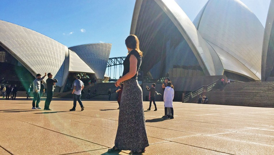 Young Woman Walking Around Sydney