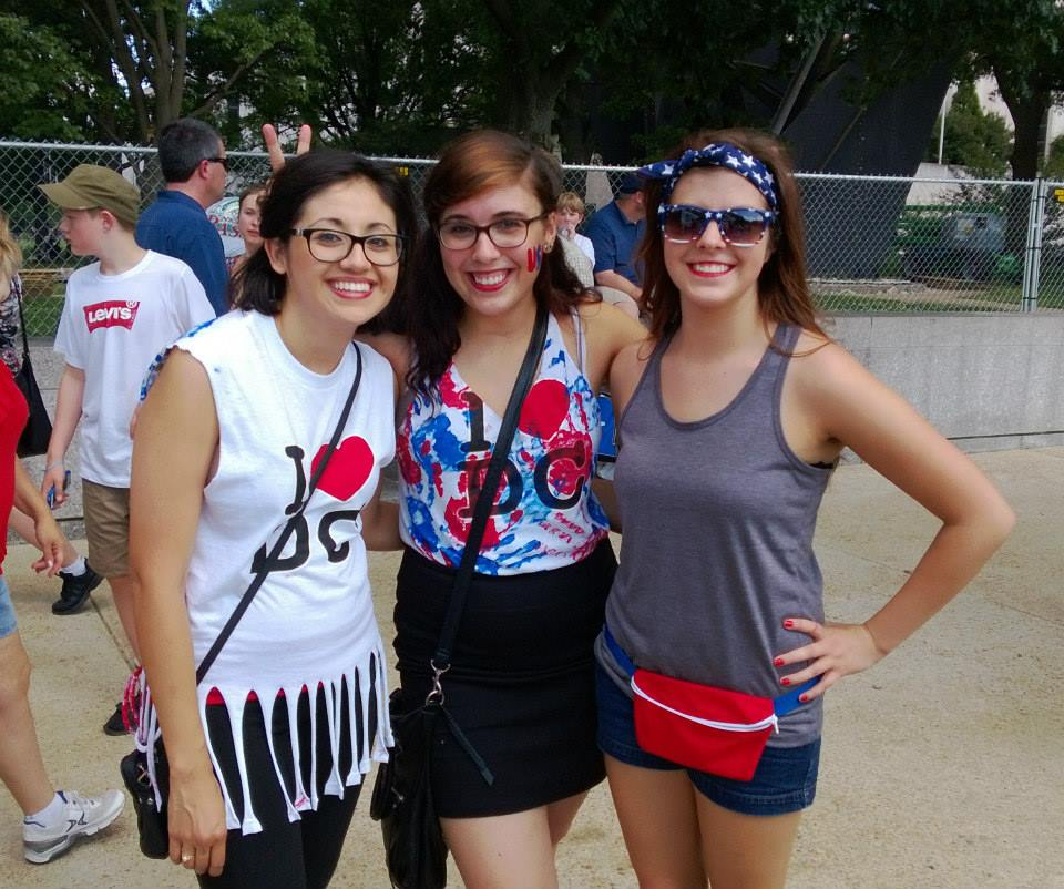 Washington D.C. interns celebrating the Fourth of July