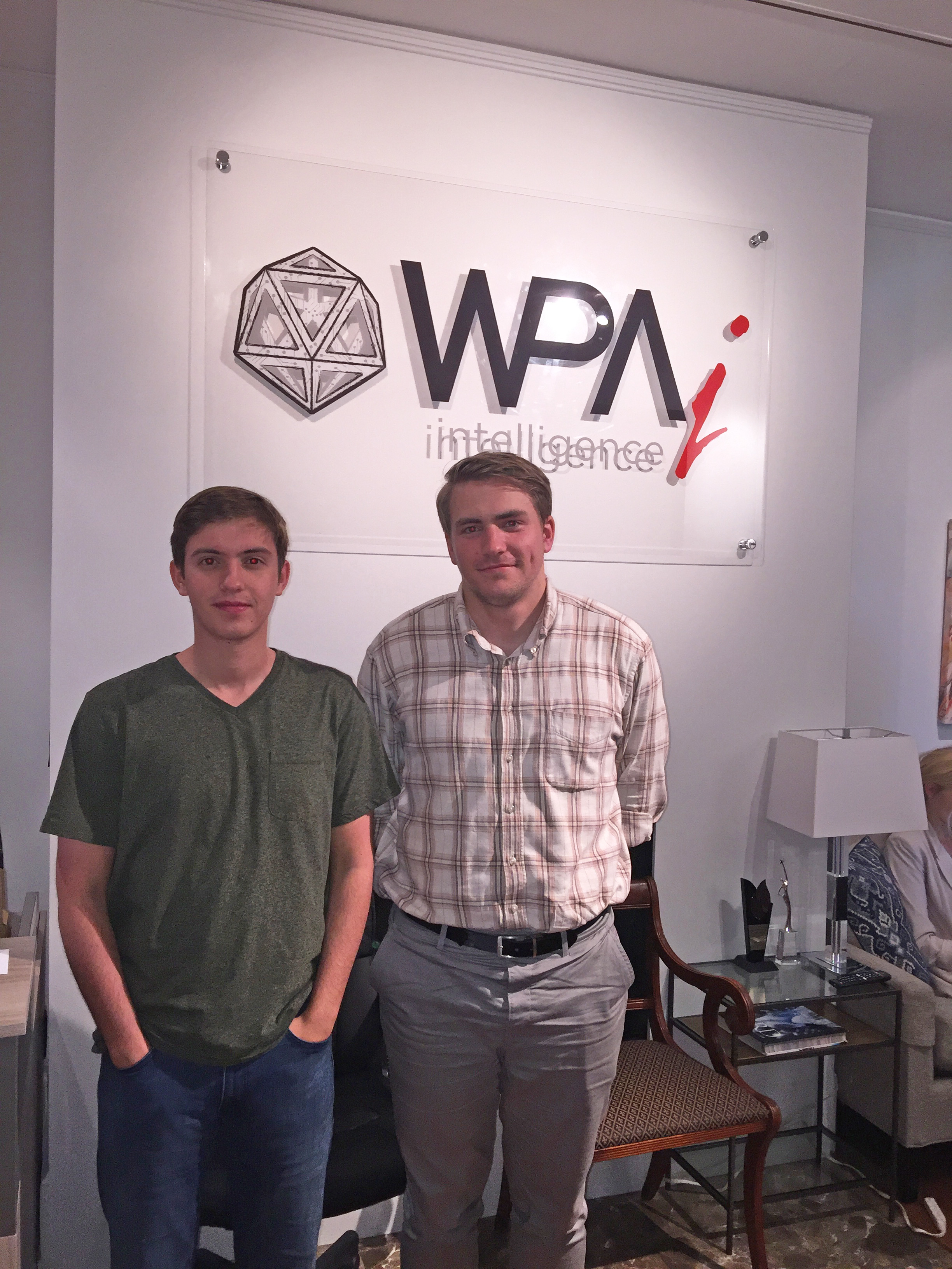 Washington D.C. Politics interns Angus T. and Ethan H.