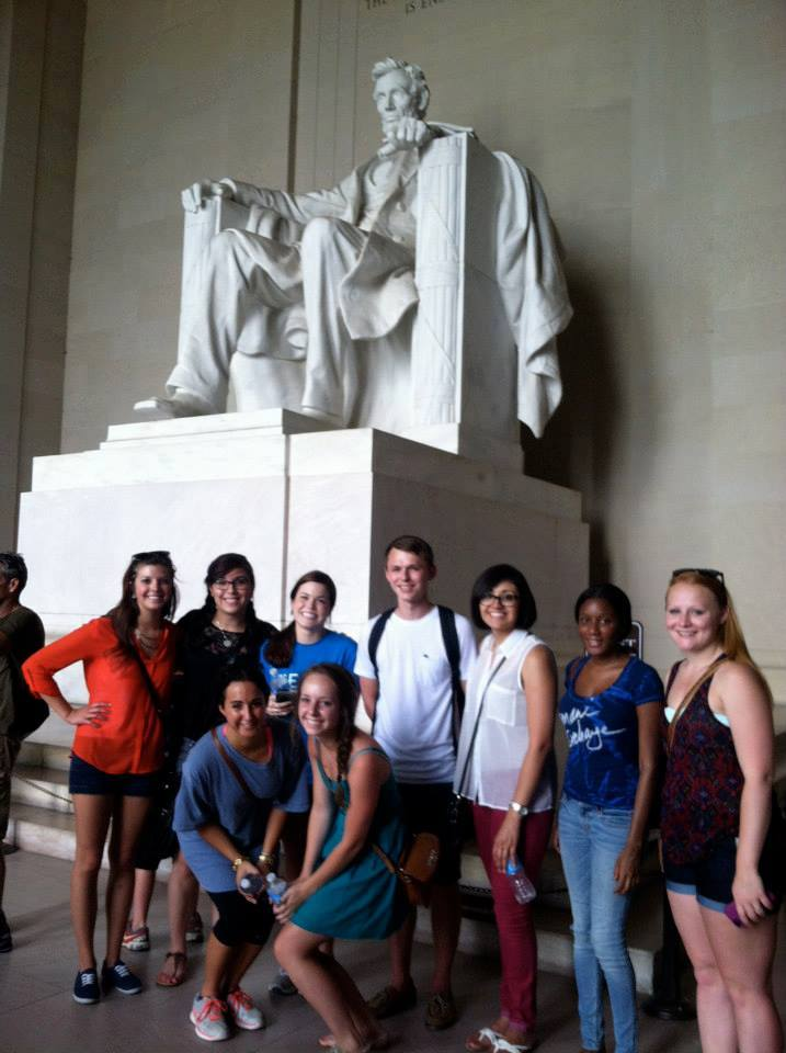 Washington D.C. Interns Visiting the Lincoln Memorial