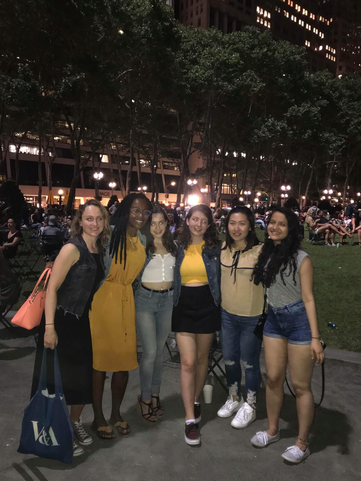 King's NYC interns at the Latin Dance Festival